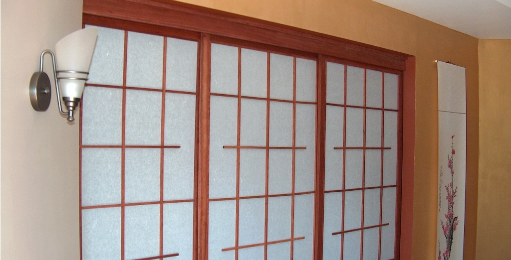 Cherry room dividers. - Seattle Custom Shoji: Room Dividers - We Manufacture Window
